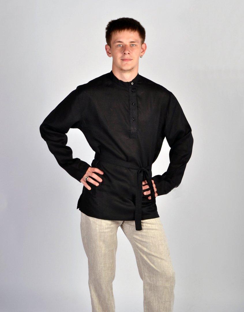 Russian shirt men traditional wear kosovorotka boho shirt Tolstoy