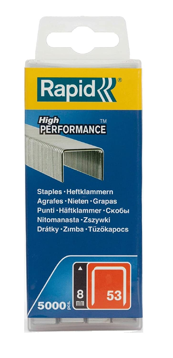 Rapid High Performance Staples, No.53, Leg Length 8 mm, 40303084 - 5000 Pieces