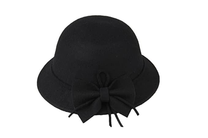 6516e75af2667 Amazon.com  Dantiya Kids Girls Winter Warm Bucket Hats Fedoras With ...