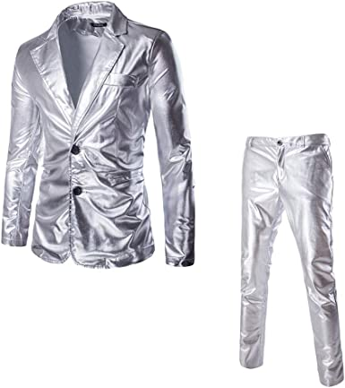 Blazer Fashion Party Trajes De Superficie Brillante Trajes ...