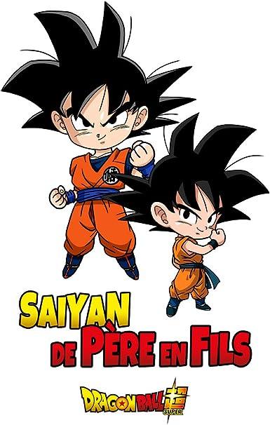 Body B/éb/é Manches Courtes Dragon Ball Super Trunks et Vegeta Baby Geek Saiyan de p/ère en Fils Licence Officielle