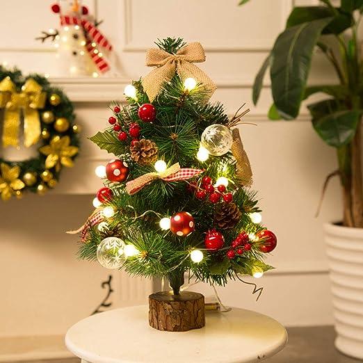 ANMOQI 20Inch Conjuntos De Árbol De Navidad con Luces De Cadena ...