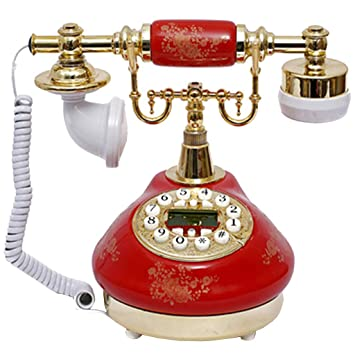 TeléFono Retro, Tocadiscos Europeo TeléFono Fijo/Vintage: Amazon ...