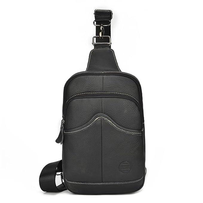 Realmark Del zurriago genuino cuero Honda bolso mochila alta pecho capacidad bolsa multiusos al aire libre