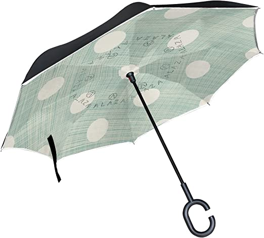 Cute Happy Animals Vector Image Reverse Umbrella Double Layer Inverted Umbrellas For Car Rain Outdoor With C-Shaped Handle Personalized