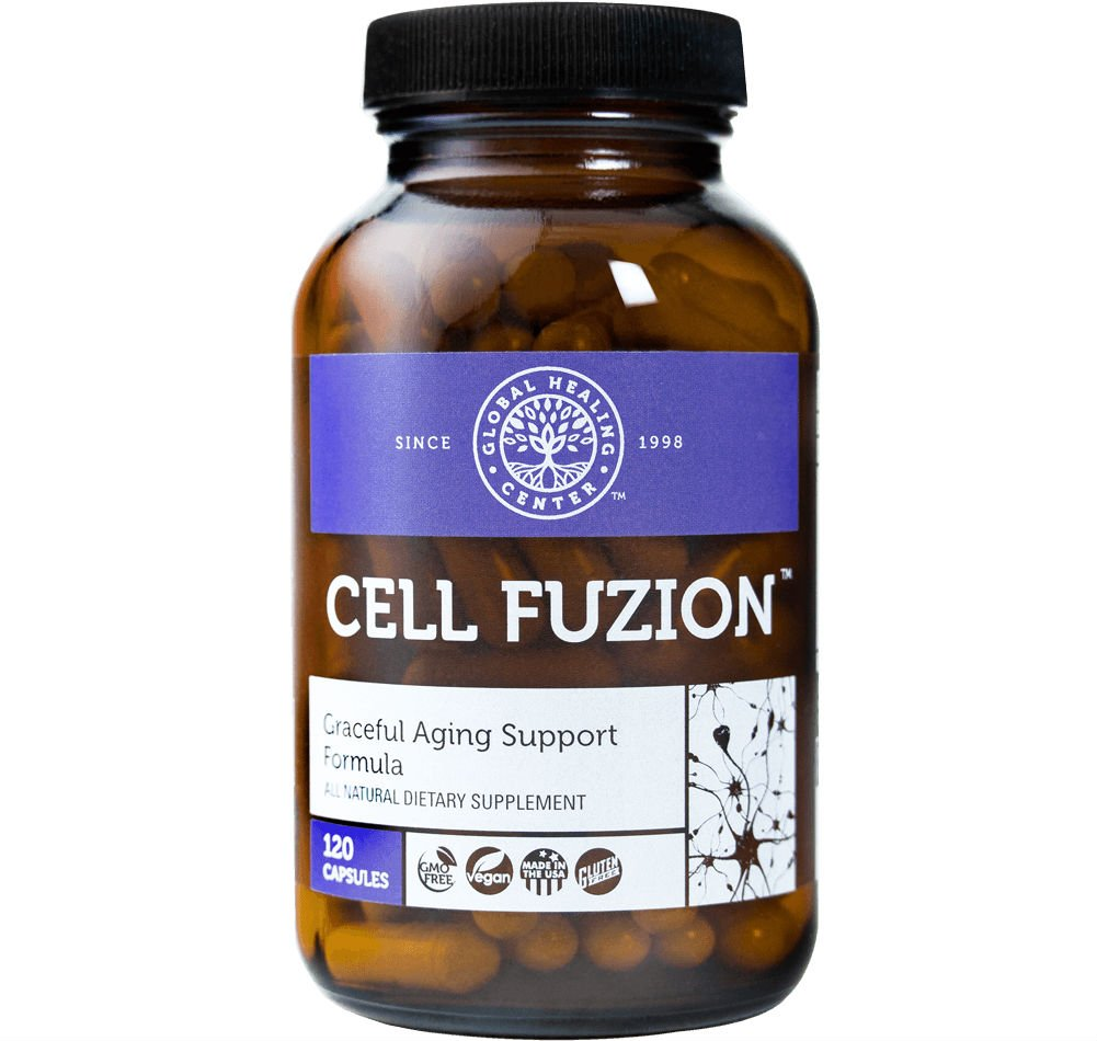 Global Healing Center Cell Fuzion Advanced Antioxidants for Cells with CoQ10, Trans-Resveratrol, PPQ & More - Guards Against DNA Damage & Supports Healthy Aging (120 Capsules)