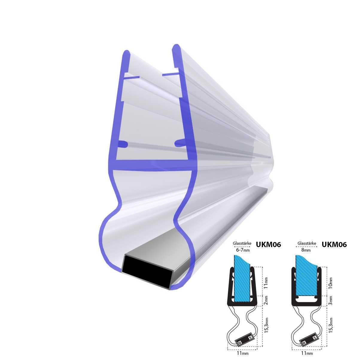 cm ukm joint de douche joint magntique pour mm mm mm paisseur de verre douche dflecteurs duair. Black Bedroom Furniture Sets. Home Design Ideas