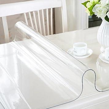 Yahee PVC Mantel Transparente Rectangular Impermeable para Mesa ...