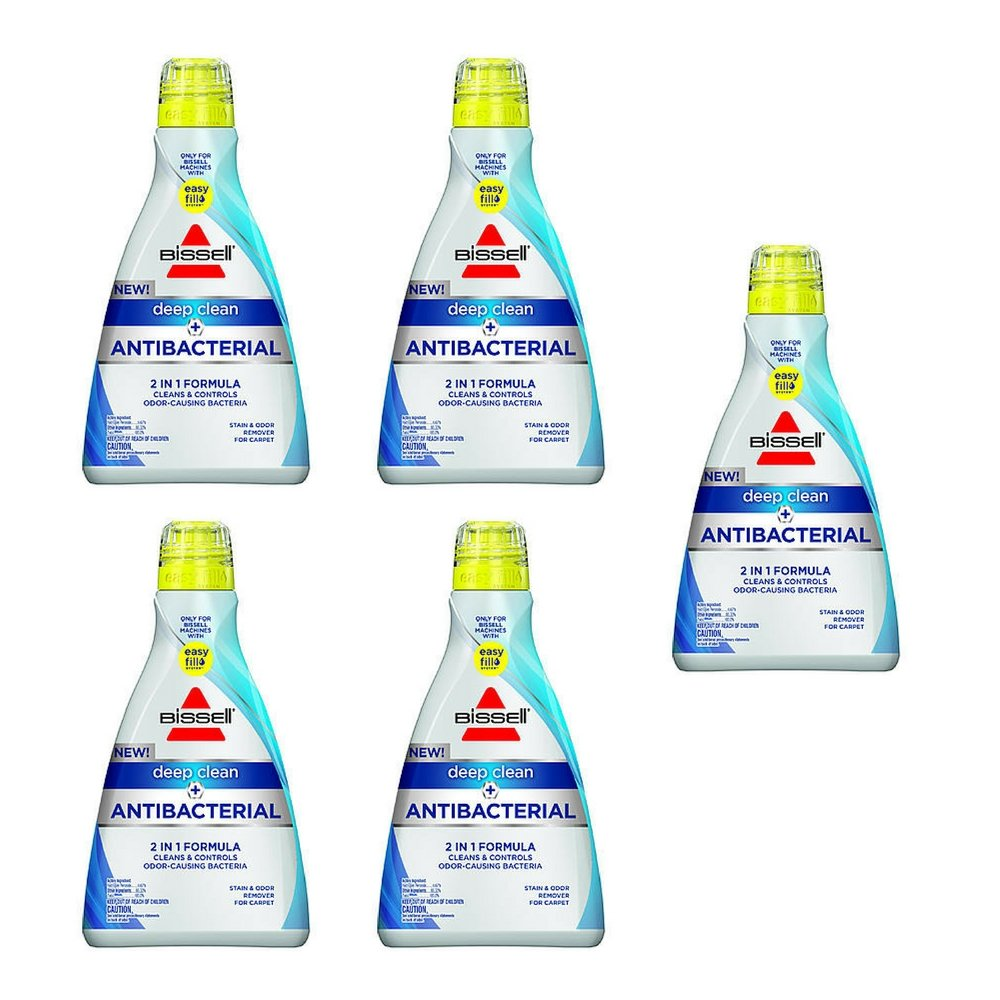 BISSELL Deep Clean + Antibacterial Full Size Carpet Cleaning Formula, 1568 by Bissell - (5 Pack)