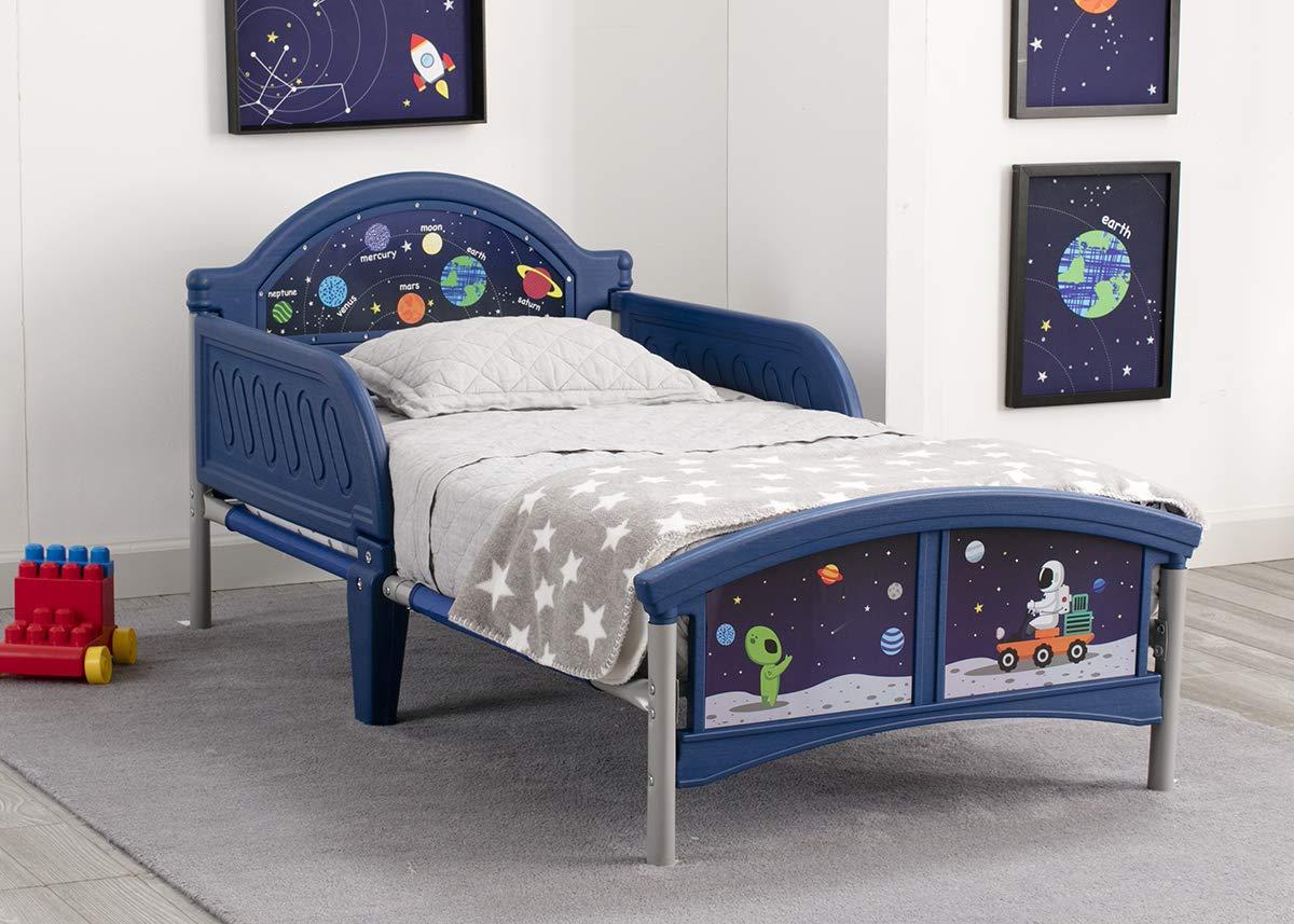 Delta Children Alfie le Astronaute Lit pour Enfant avec Bedguard