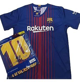 Camiseta 1ª Equipación Replica Oficial FC BARCELONA 2017-2018 Dorsal MESSI  - Tallaje ADULTO ( d273ecd895034