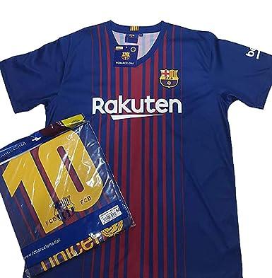 Camiseta 1ª Equipación Replica Oficial FC BARCELONA 2017-2018 Dorsal MESSI  - Tallaje ADULTO ( f7a8b16a366f6
