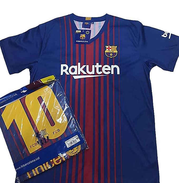 Camiseta 1ª Equipación Replica Oficial FC BARCELONA 2017-2018 Dorsal MESSI - Tallaje ADULTO (
