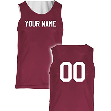 cd8b9bc4b Basic Reversible Custom Basketball Jersey Youth X-Small in Maroon and White