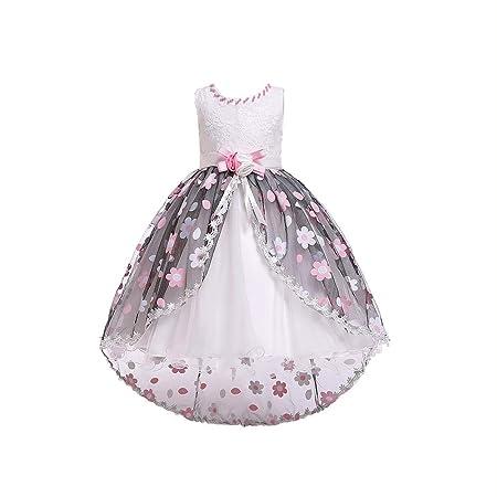 QZ Vestido de niña de Flores para el Banquete de Bodas ...