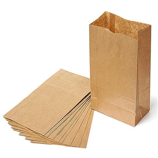 10pcs marrón papel Kraft bolsas de papel partido Pan ...