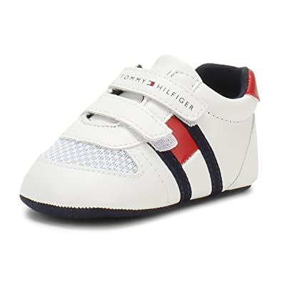 8c0e3f371 Tommy Hilfiger Baby White Red V Trainers-Baby 2  Amazon.co.uk  Shoes ...