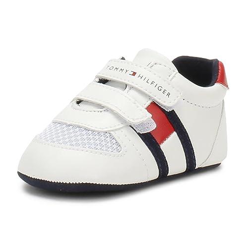 Tommy Hilfiger Bebé Blanco/Rojo V Zapatillas-Bebé 2: Amazon.es: Zapatos y complementos