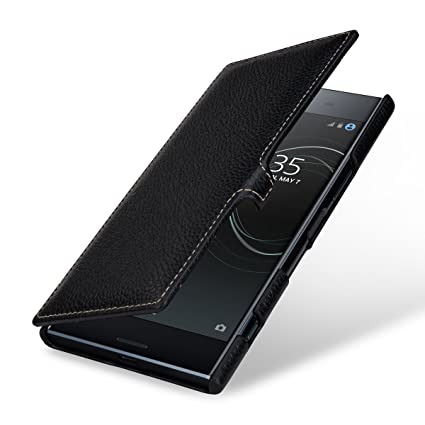 Amazon.com: StilGut Genuine Leather Flip Case for Sony ...