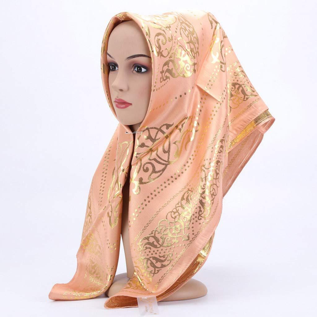 Sparkle Chiffon Scarf Muslim Hijab Gold Glitter Shimmer Headcover BLACK Shawl
