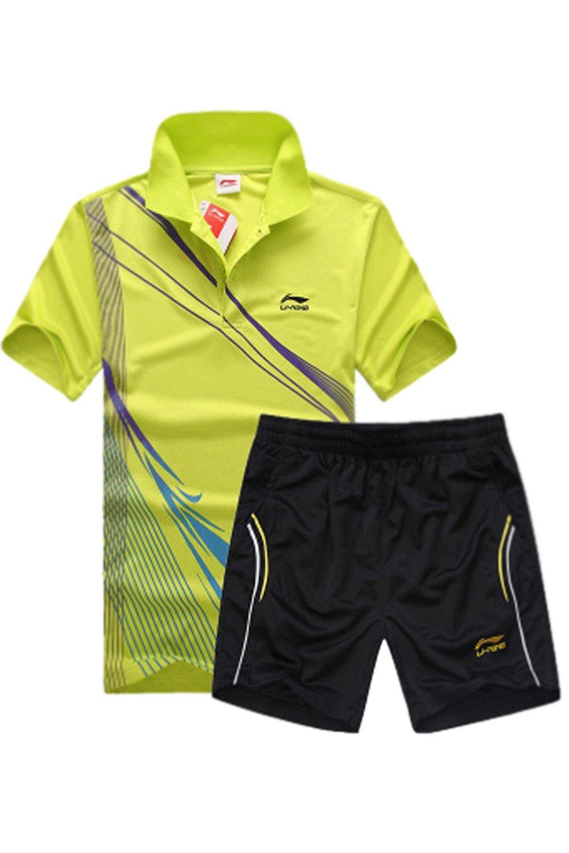 Unomatch Boys Tennis Clothing Short Sleeve T-shirt with Raid Shorts (LARGE, BLUE)