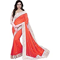 Effigy Online HUB Women's Chiffon Saree with Blouse Piece