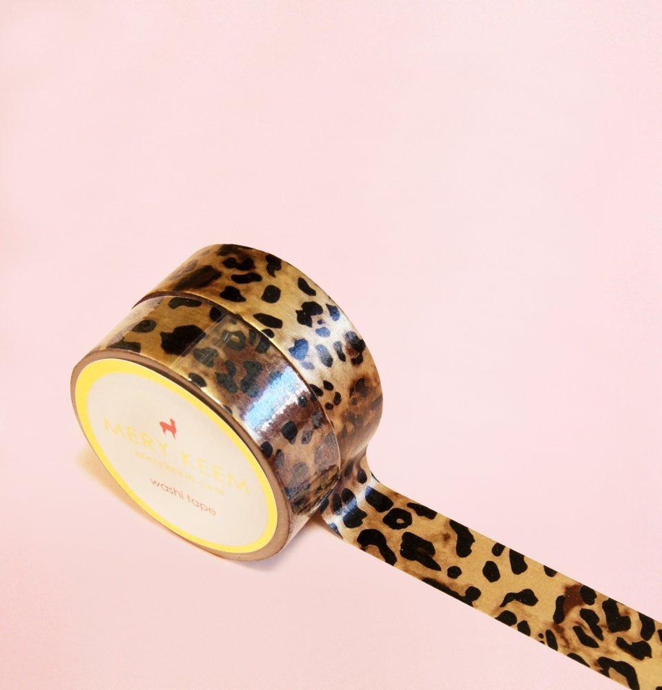 Animal Leopard Print Washi Tape para Diarios y Planificadores • Scrapbooking • Artesanias • Oficina • Artículos de Fiesta • Envoltorios de Regalo • Ideal para Manualidades • Cinta Adhesivas Decorativa • DYI