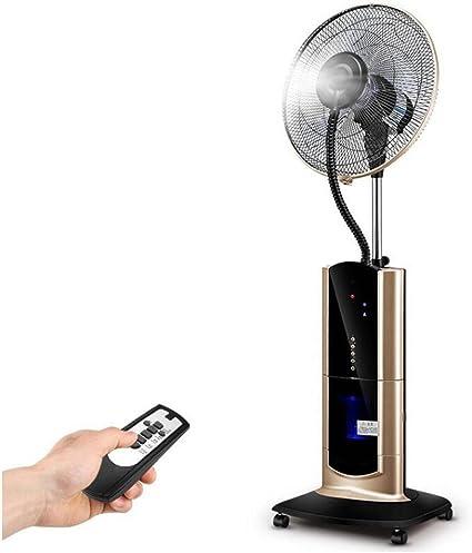 Ventilador Spray humidificación Uso en el hogar Ventilador enfriamiento agua pie Ventilador agua nebulizada Agregue agua y hielo para soplar el ventilador niebla Tres clases viento Clase purificació: Amazon.es: Deportes y aire