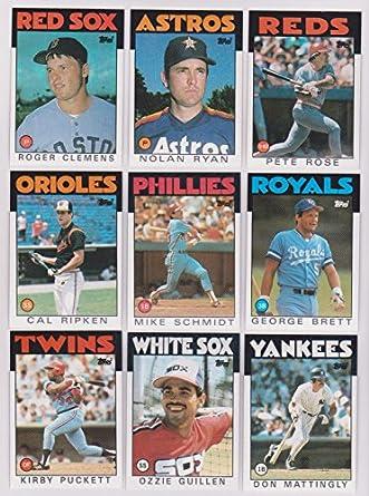 Amazoncom 1986 Topps Mlb Baseball Complete Mint Hand
