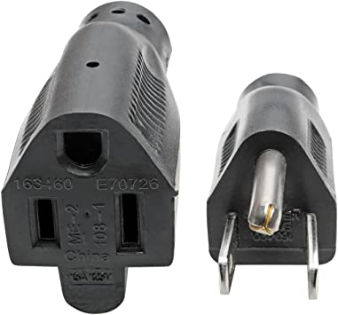 Tripp Lite Power Extension Cord Right-Angle 5-15P to 5-15R 14AWG 15A 3ft P024-003-15D