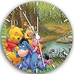 Winnie The Pooh Frameless Borderless Wall Clock X02 Nice For Gift or Room Wall Decor