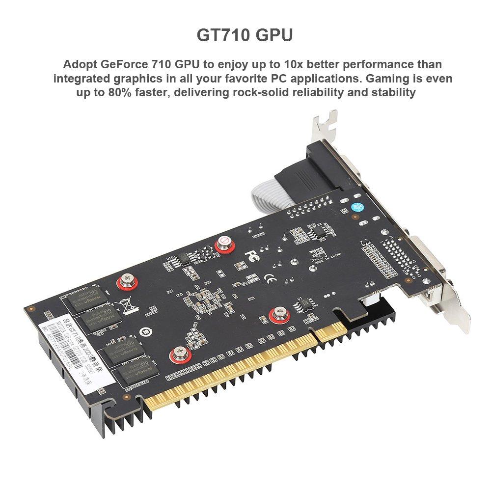 Tarjeta gráfica onda NVIDIA GT 710 GPU 2 GB 64 bits 2048 MB ...