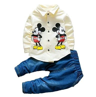 2eead32ed59e AP Boutique Boy s Cotton Blend Long Sleeves Mickey Mouse Cartoon ...