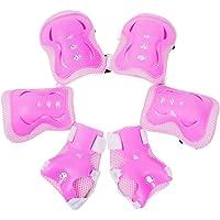 Meta-U - Set di 2x gomitiere, 2x polsiere e 2x ginocchiere protettive per bambini, per pattini