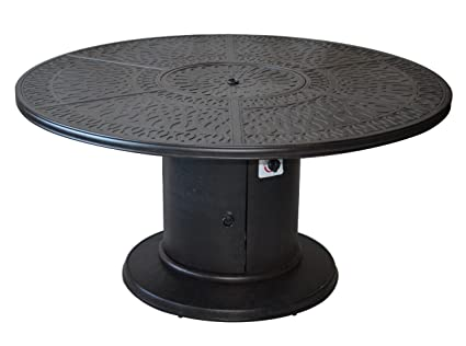 Amazoncom Outdoor Grill Table Propane Fire Pit Round Dining - Fire pit and grill table