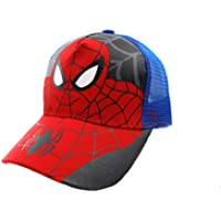 BAOZOON Spiderman Cartoon Children Snapback Cotton Baseball Cap Kids Boys Girls Hip Hop Hat Spiderman Cosplay Hat, Blue…