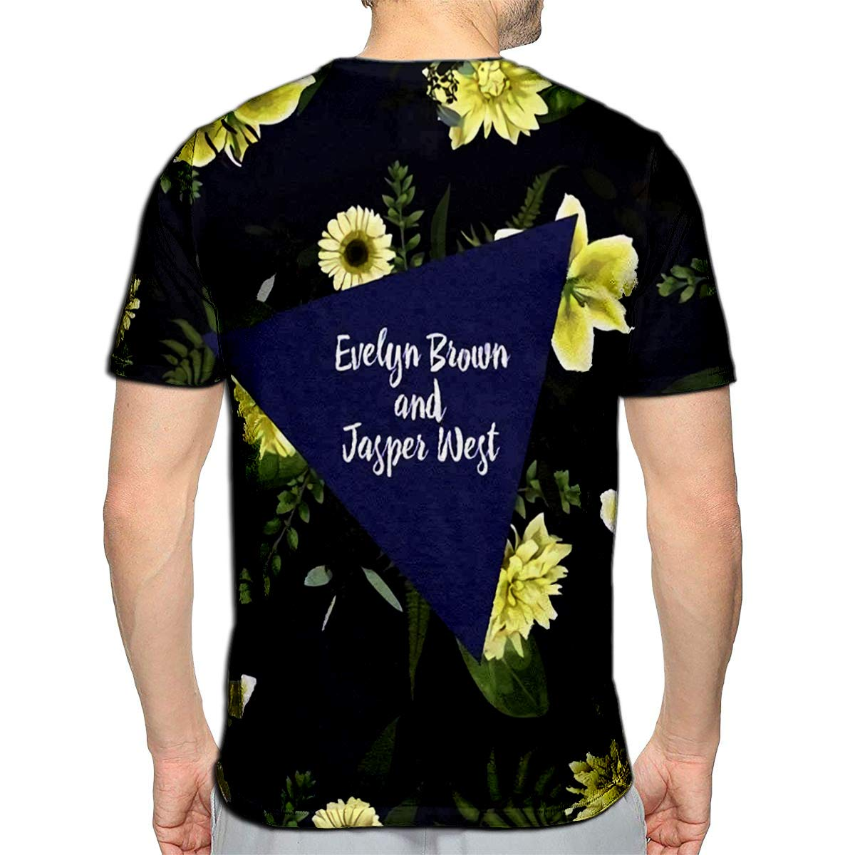 3D Printed T-Shirts Watercolor Magic with Artistic Elements Short Sleeve Tops Te