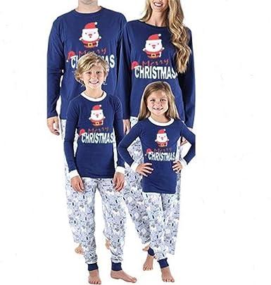 TLLW Pijama de Navidad a juego para familia, papá, mamá ...