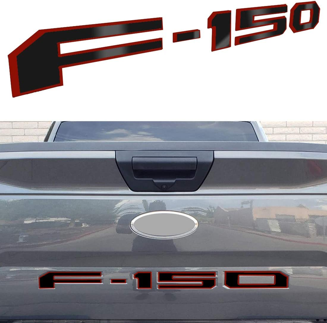 Tailgate Insert Letters for Ford F150 2018-2019 3M Adhesive /& 3D Raised Tailgate Decal Letters Matte Black