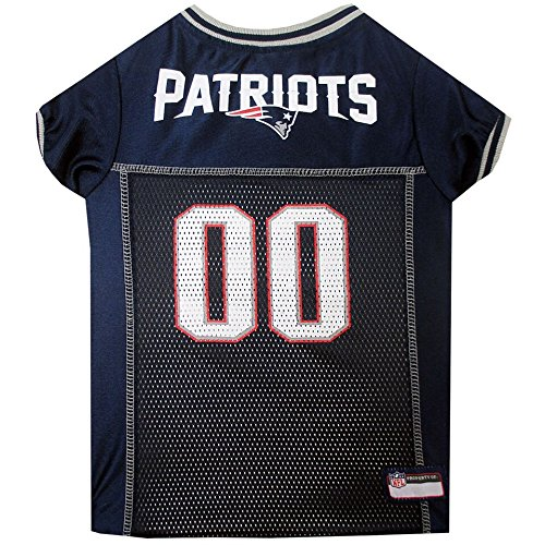 (Pets First New England Patriots Dog Mesh Jersey Licensed NFL (XXL))