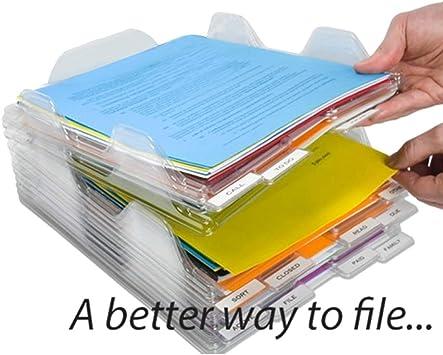 Tbyy Caja de Almacenamiento de Archivos Organizador de Documentos Bandeja apilable para revistas de Papel Oficina: Amazon.es: Electrónica