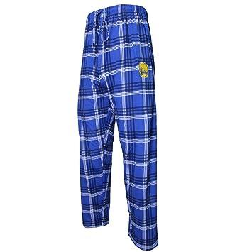Hombre Playoff Plaid Golden State guerreros pantalón de pijama, Color del equipo