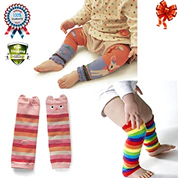 e9cc67b3c Amazon.com : Kids Stocking Long Sock Leggings Arm Leg Warmers Breathable  Protect Knee Pad for Baby Girls Indoor 0-5 Y 3 Pack Varisous : Baby