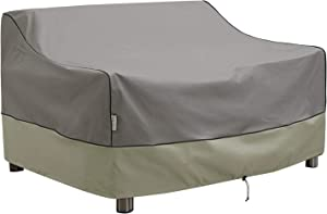 Kylinlucky Outdoor Furniture Covers Waterproof, 2-Seater Deep Seat Patio Sofa Covers Fits up to 76W x 40D x 33H inches