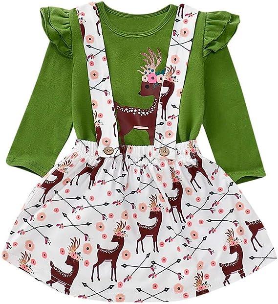 Vectry Navidad Vestido De Niñas Princesa Vestido Niñas Bebé Tops ...