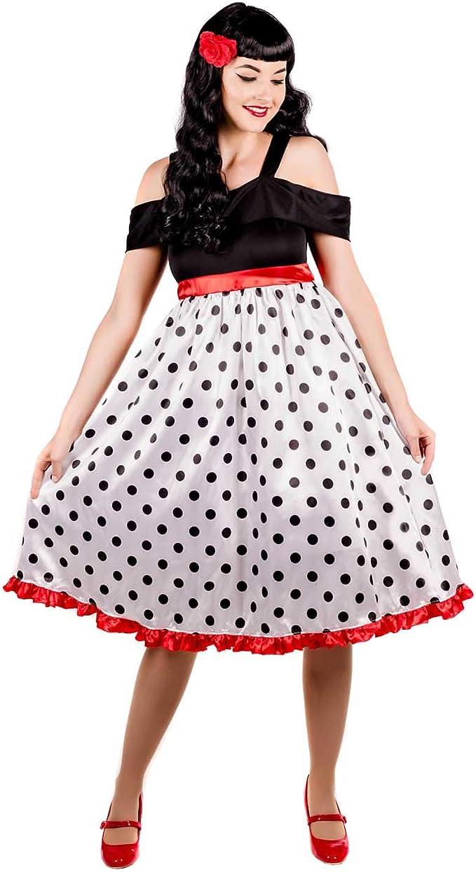 Fun Shack Blanca Rockabilly De Los Años 50 Disfraz para Mujeres ...
