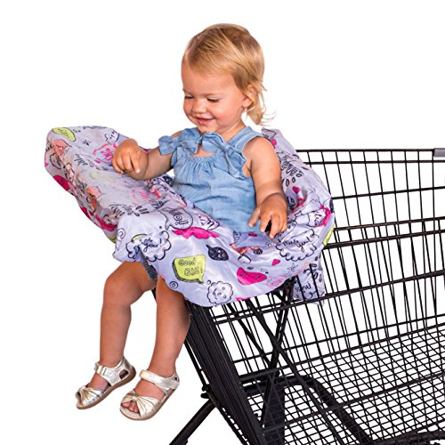 ROSIE POPE Shopping Cart & High Chair Cover Grey Text Bubble / ROSIE POPE Shopping Cart & High Chair Cover Grey Text Bubble