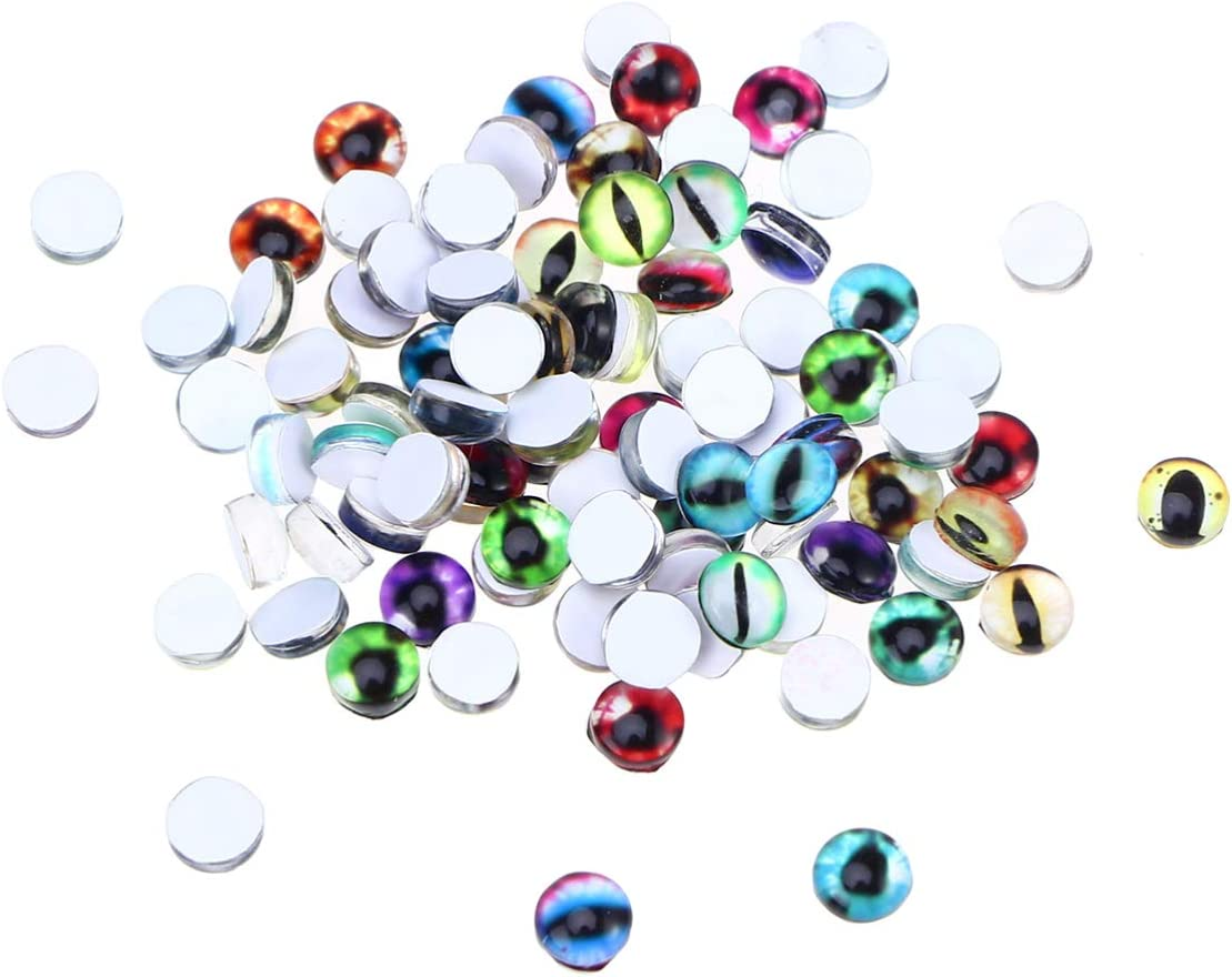 Colorful 6-30mm Toy Eye Doll Eye Glass Flatback Cabochons DIY Making Findings