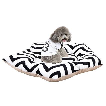 Yiuu Cómoda Cama para Mascotas Colchón para Perros Almohadilla para Dormir Gato Algodón Relleno Cama De