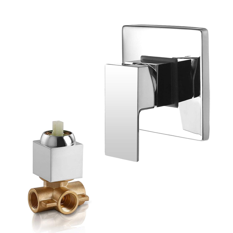 Dr Faucet Wall Mount Shower Mixer Water Mixer Valve and Trim Kit, Shower Faucet Valve Bathroom Faucet Valve Trim Dr-1500